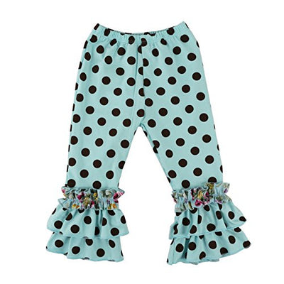 Wennikids Children's Little Girls Ruffle Soft Cotton Flare Pants