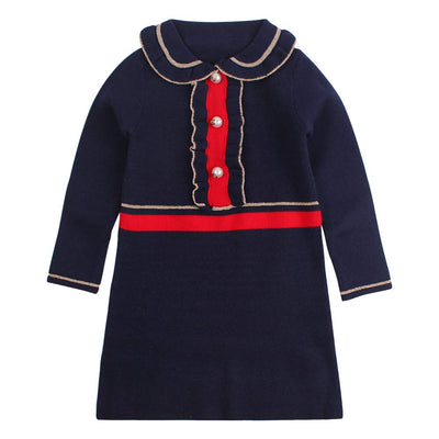 Ruffles Baby Girls Cardigan Warm Infant Toddler Sweater Dress Girls Long Sleeve V-Neck Cardigans Autumn Winter
