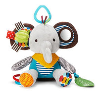 Skip Hop Bandana Buddies Baby Activity and Teething Toy with Multi-Sensory Rattle and Textures, Elephant