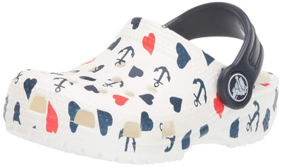 Crocs Kids' Classic Anchor Print Clog