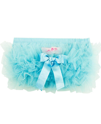 RuffleButts Baby/Toddler Girls Knit Diaper Cover Tutu Bloomer w/Frilly Mesh Ruffles