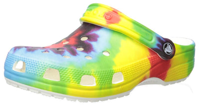 Crocs Kids' Classic Tie-Dye Graphic Clog | Casual Water or Beach Shoe, Tie Dye, 8 M US Toddler
