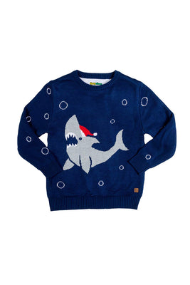 Cute Baby Shark Christmas Sweater - Infant Ugly Xmas Sweater