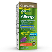GoodSense Children's All-Day Allergy Cetirizine Hydrochloride Oral Solution, Grape, 4 Fluid Ounce