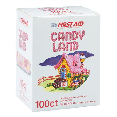 Candy Land Bandages - First Aid Supplies - 100 per Pack