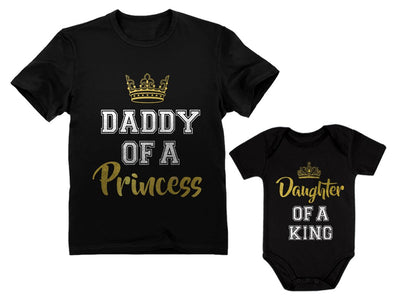 Father & Daughter Matching Set Gift for Dad & Baby Girl Bodysuit & Men's Shirt