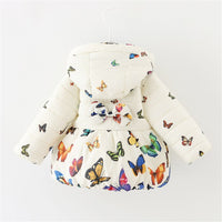 Baby Girls Winter Autumn Cotton Warm Butterfly Jacket Coat
