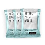 Better Nose Wipes, The Natural Soothing Wet Tissue for Nose + Face + Hands, Saline + Aloe + Menthol + Eucalyptus + Rosemary, 30 Count (Pack of 3)