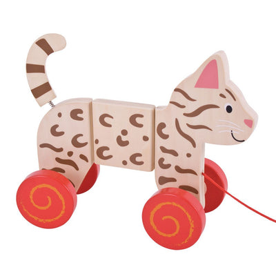 Bigjigs Toys Cat Pull Along