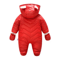 Ding-dong Baby Boy Girl Winter Hooded Puffer Jacket Snowsuit with Gloves