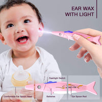 6pcs Ear Pick, Ronten Ear Curette LED Light Earwax Removal with Storage Box