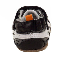Robeez Boys' Low Top Sneaker-Mini Shoez Crib Shoe Grey/Yellow 6-9 Months