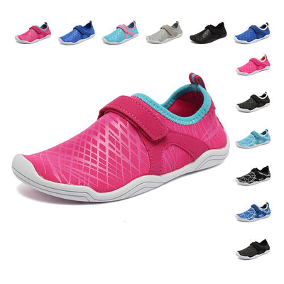 FANTURE Girls & Boys Water Shoes Lightweight Comfort Sole Easy Walking Athletic Slip on Aqua Sock(Toddler/Little Kid/Big Kid)
