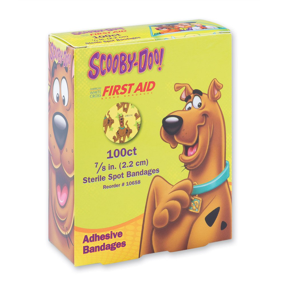 Scooby Doo Spot Bandages - First Aid Kit Supplies - 100 per Pack