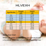 HLVEXH Baby Girl Newborn Infant Toddler Casual Clothes Jumpsuit Romper Bodysuit Outfits 0-24Months