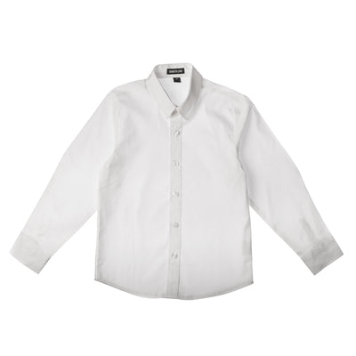 Born to Love Wedding Baptism Birthday Boys White Button Up Shirt