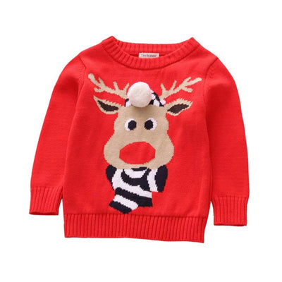 Baby Girl Boy Elk Ugly Christmas Sweater Toddler Pullover Sweatshirt