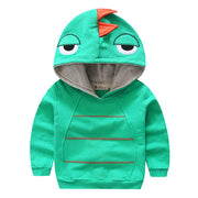 Aivtalk Boys Autumn Long Sleeve Strip Dinosaur Hoodie Toddler Outwear Clothes 1-6T