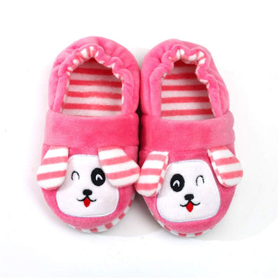 Enteer Toddler Girls' Doggy Stripe Slipper
