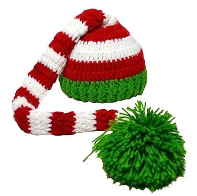 Kafeimali Baby Christmas Elf Long Tail Crochet Beanie Knit Hat Stocking Caps