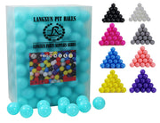 LANGXUN 400pcs Ball Pit Balls - Soft Plastic Play Balls for Babies & Toddlers for Kids, Swimming Pool Toys, Play Tents, Party Decoration, Water Balls (Marca Cyan)