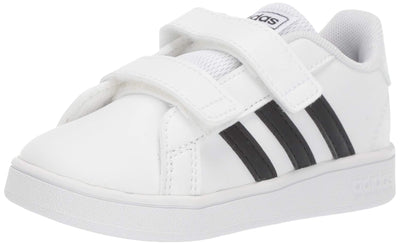 adidas Baby Grand Court Sneaker, Black/White, 8K M US Toddler