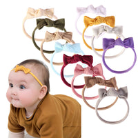 Baby Girl Headbands and Bows Classic Knot Nylon Headwrap Super Soft Stretchy Nylon Hair bands for Newborn Toddler, Children