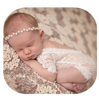 Fashion Cute Newborn Baby Girls Photography Props Lace Romper Photo Shoot Props Outfits