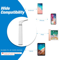 Wireless Otoscope, 3.9mm Ultra-Thin WiFi Ear Scope Camera with Earwax Removal Tool and 6 LED Lights, Ear Cleaner with Tmperature Control and Gyroscope, Ear Endoscope Compatible with all Mobile Devices