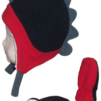 N'Ice Caps Little Boys and Baby Soft Sherpa Lined Fleece Dino Hat Mitten Set
