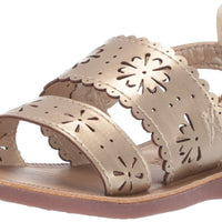 OshKosh B'Gosh Aditi Girl's Floral Cut-Out Sandal, Gold, 5 M US Toddler