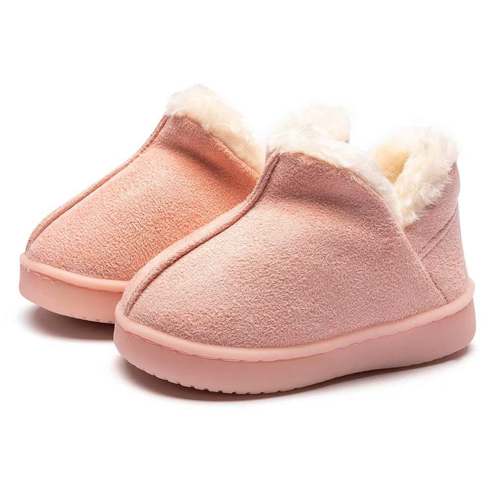 SHUNGANG Girls' Boys' Winter Warm Slippers Kids Indoor Home Boots Slippers