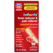 Rite Aid Infant Pain Reliever & Fever Reducer Medicine Dropper, Cherry Flavor - 2 fl oz | Infant Fever Reducer