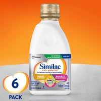 Similac Pro-Sensitive Infant Formula with 2'-FL Human Milk Oligosaccharide (HMO) for Immune Support, Ready to Feed, 32 fl oz (Pack of 6)