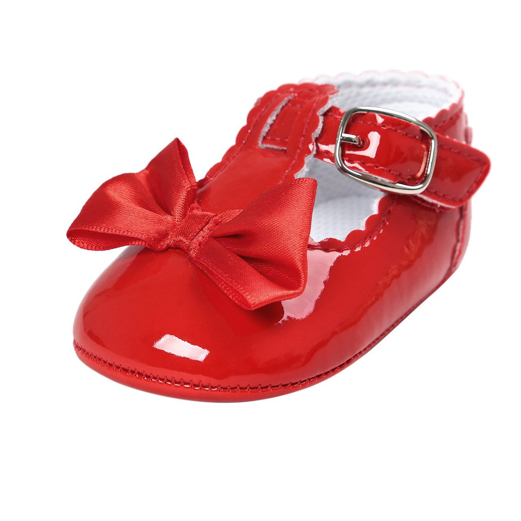 BENHERO Baby Girls Mary Jane Flats with Bowknot Non-Slip Toddler First Walkers Princess Dress Shoes