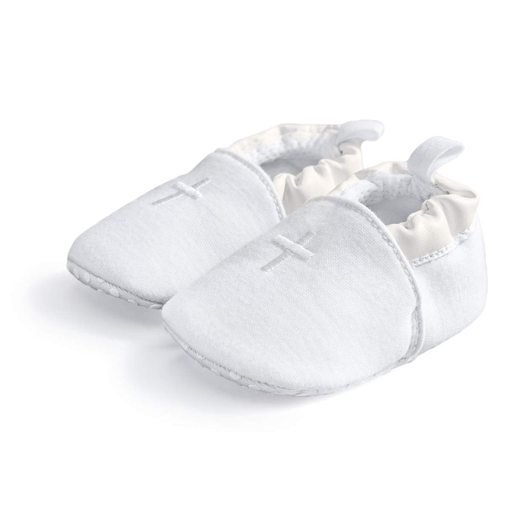 HAPIU Baby Baptism Shoes,Premium Soft Sole Infant Sneaker,Prewalker Shoes,6-12M