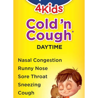 Hyland's Cold and Cough 4 Kids, Cough Syrup Medicine for Kids, Decongestant, Sore Throat Relief, Natural Treatment for Common Cold Symptoms, 4 Fl Oz