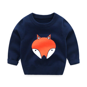 HUAER& Baby Boys Girls Knit Sweater Unisex Cotton Cartoon Animal Pullover Sweatshirt