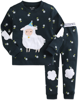 Vaenait Baby Little Girls Boys Unisex Kids Toddler 100% Cotton Pajamas Sleepwear Pjs Set