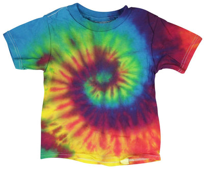 Short Sleeve Tie-Dye T-Shirt - Reactive Rainbow -Toddler - Assorted Sizes