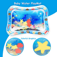 Keten Inflatable Tummy Time Baby Water Mat, Leakproof Water Filled Infant Toy for 3 6 9 Months Newborn Boy Girl, Fun Activity Play Center Your Baby's Stimulation Growth (26'' x 20')