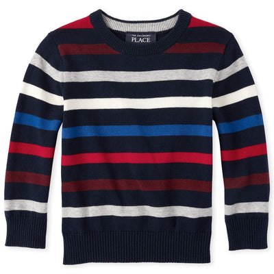 The Children's Place Baby Boys Striped Crew Neck Sweater