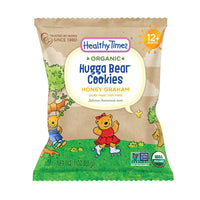 Healthy Times Organic Hugga Bear Snack Pack Cookies for Kids, Honey Graham | For Toddlers, 12 Months and Older | 1 Oz. Bag, 24 Count