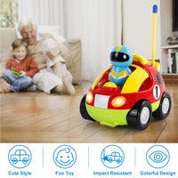 Liberty Imports My First Cartoon R/C Race Car Radio Remote Control Toy for Baby, Toddlers, Children