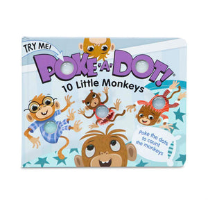 Melissa & Doug Children's Book - Poke-a-Dot: 10 Little Monkeys (Board Book with Buttons to Pop, Great Gift for Girls and Boys - Best for 3, 4, 5 Year Olds and Up)