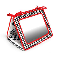 Black, White & Red, Smile, Baby 2-in-1 Crib & Floor Mirror
