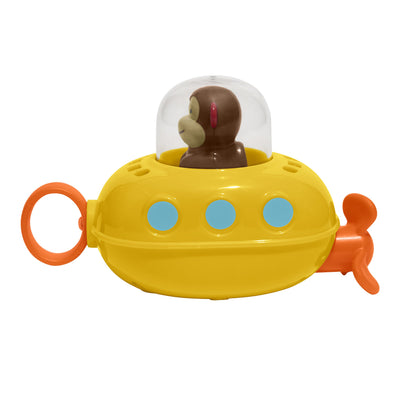Skip Hop Pull & Go Monkey Submarine: Baby Bath Toy, Marshall Monkey Zoo Character