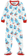 INTIMO Baby Infant Dr. Seuss Cat in The Hat Footie Pajama Sleeper