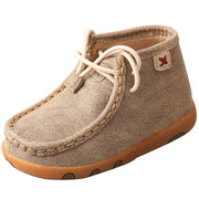 Twisted X Infant Driving Moccasins, Color: Dusty Tan, Size: 4, Width: M (ICA0005-4-M0