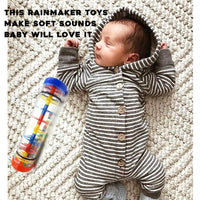 Here Fashion 8'' Mini Rainmaker Toy for Babies Rainfall Rattle Tube Rain Stick Shaker Music Sensory Auditory Instrument Toy